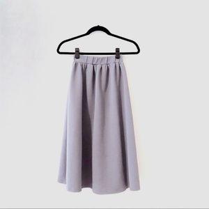 Topshop purple midi a line skirt